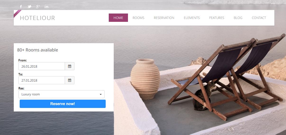 Κατασκευή ιστοσελίδας για ξενοχοδεία : 7 υπέροχες προτάσεις Web Design